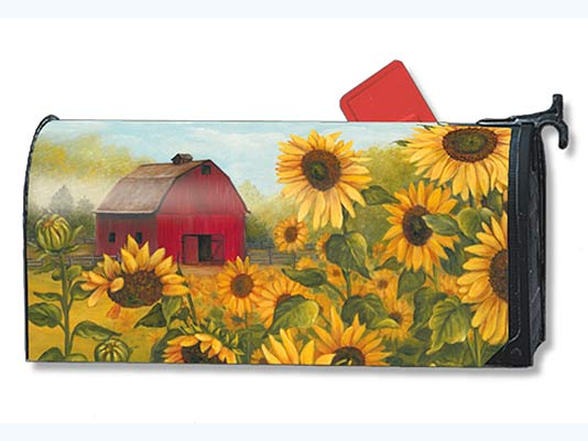 Sunflower Farm Mailbox Cover