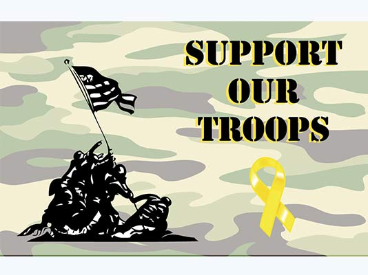 We support our troops camo flag for Garden shed 3x5